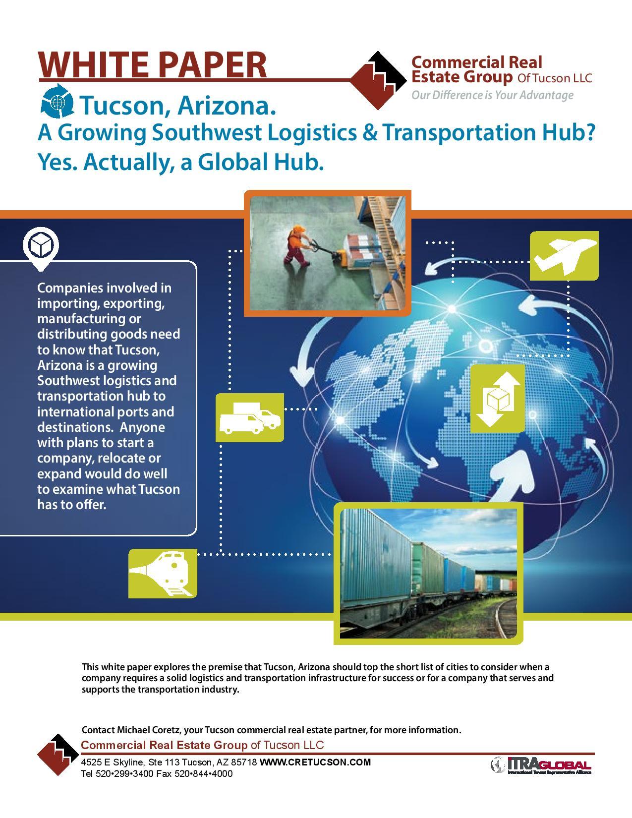 2014 Logistics & Transportation in Tucson Arizona Industrial Whitepaper (IMG)