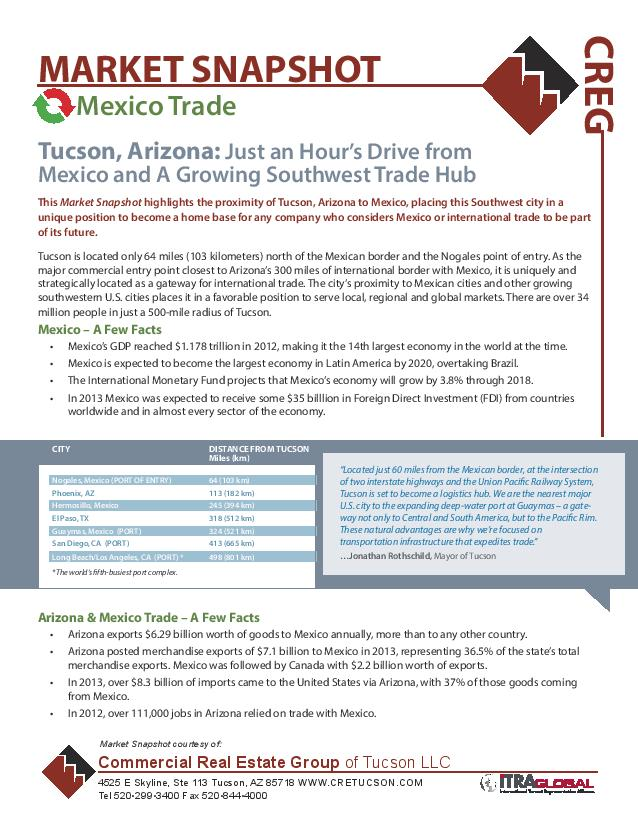 2014 Mexican Trade Logistics Industrial Market Snapshot - Commercial Real Estate Group of Tucson Arizona (IMG)