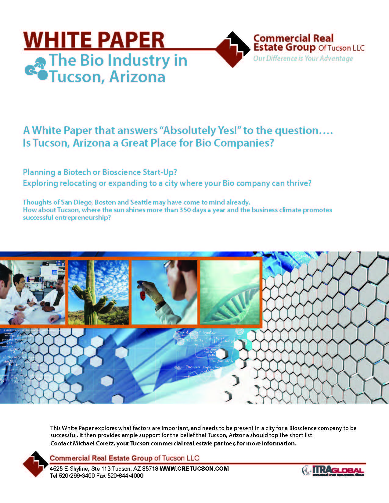 2013 Bio Technology Industry White Paper by Tucson Tenant Representation